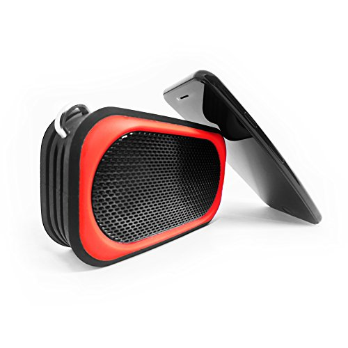 Avoconic-Floatstone-SP085-Portable-Bluetooth-Speaker-Waterproof-Shockproof-Built-in-Microphone-for-Phone-Calls-Black-Red-Colour