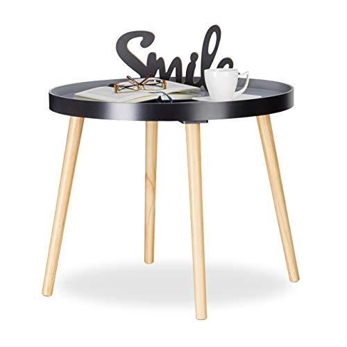 Relaxdays Beistelltisch Rund, Skandinavisches Design, Couchtisch Oder  Nachttisch, HxØ: 51 X 65