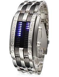 Lightinthebox Reloj Pulsera de Marcadores LED en Acero Inoxidable Con Indicador Semanal