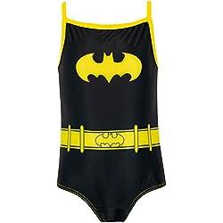 Batman Bañador para Niña DC Comics Negro 3-4 Años