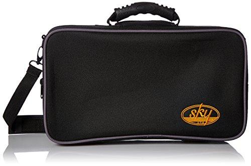 Sky Bb Klarinettenkoffer mit Schulterriemen und Außentasche
