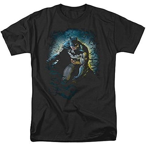 Batman - - Cueva de los Murciélagos de adulto T-Shirt En Negro