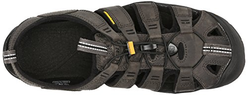 Keen Herren Clearwater Leather Cnx Sandalen Grau (Magnet/Black)