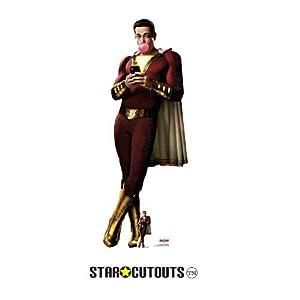 Star Cutouts SC1348 Shazam Bubblegum (Zachary Levi) - Recorte de cartón (tamaño real, 190 cm de alto, 72 cm de ancho, multicolor