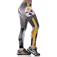 SYPNB Pantalones de Yoga de Cintura Alta para Mujer Pantalones de Fitness de Gran tamaño Capri Medias impresión 3D Digital,M