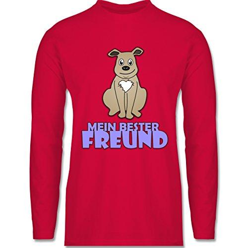 Shirtracer Hunde - Mein Bester Freund Hund - Herren Langarmshirt Rot