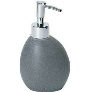 Distributeur de savon liquide Galet Gris et chrome Résine La chaise longue 28-S2-008