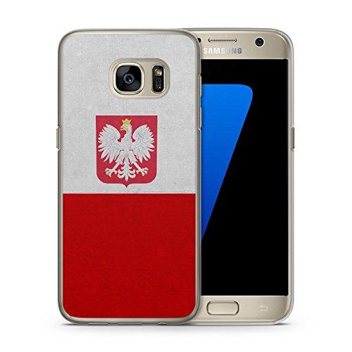 Polen Polska Poland Flagge Samsung Galaxy S7 EDGE Hardcase Hülle Cover Case Schale