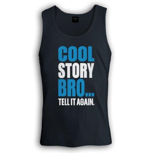 Blau-Weiß Cool Story Bro Trägerhemd Tank Top Schwarz