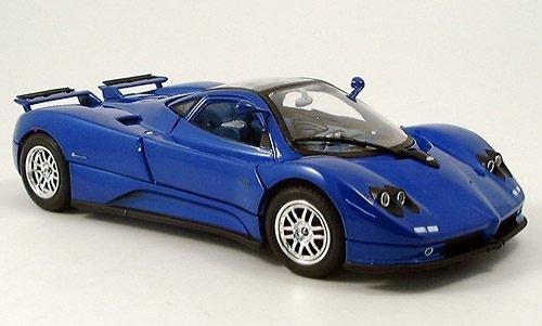 pagani-zonda-c12-blu-2004-modello-di-automobile-modello-prefabbricato-motormax-118-modello-esclusiva