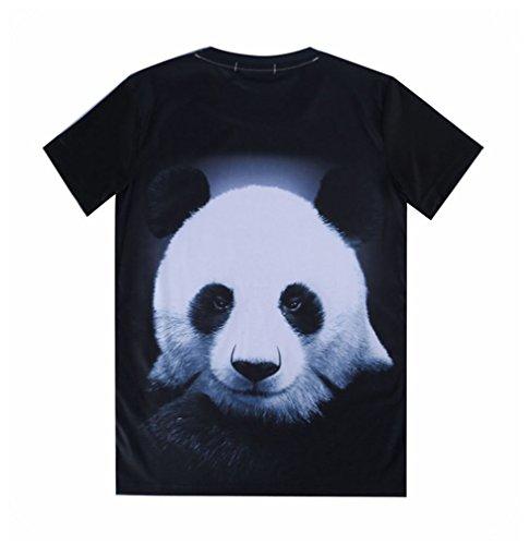 Pretty321 Men Women 3D Giant Panda Hip Hop Graffiti Unisex Fashion AD T-Shirts Amazon