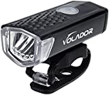 Volador Bicycle Front Light USB Rechargeable Bike Light LED Bicycle Headlight Lamp 300 Lumens, 3 Modes, Wide Beam Angle­