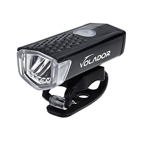 Volador LED Fahrradlicht Wiederaufladbare Fahrradlampe Fahrrad Vorderes Licht Scheinwerfer 300lm 3 Licht Modi