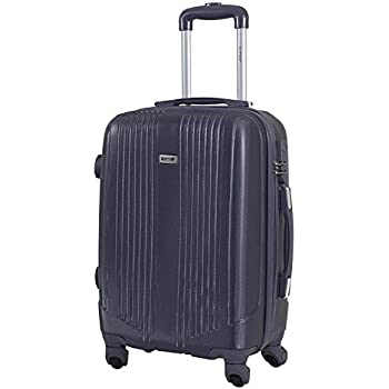 Valise cabine 55cm - Trolley ALISTAIR Airo - ABS ultra Léger - 4 roues (Black Grey)