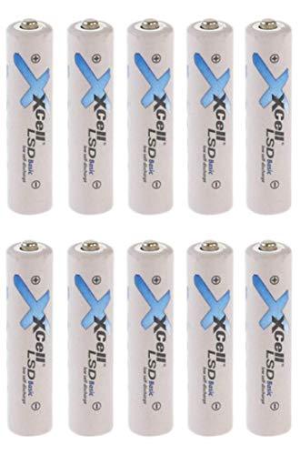 10er Pack AAA Akku LSD Basic NI-Mh 1,2V 800mAh Low self Discharge Akku neueste Generation von Micro Akku Batterien Akkuman.de Set (10er AAA)