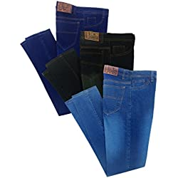 LONDON LOOKS MEN MULTI COLOR SLIM FIT JEANS COMBO OF 3 (32)
