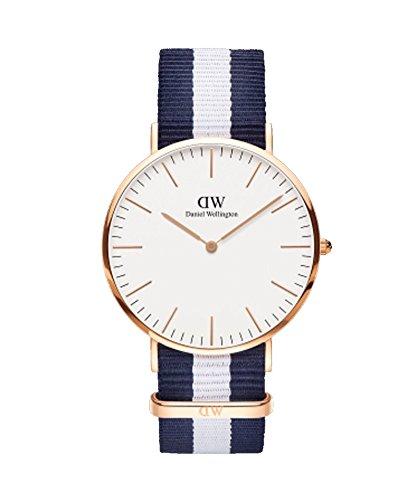 DANIEL WELLINGTON – Reloj de los hombres de 40 mm, DANIEL WELLINGTON GLASGOW ORO ROSA DW00100004