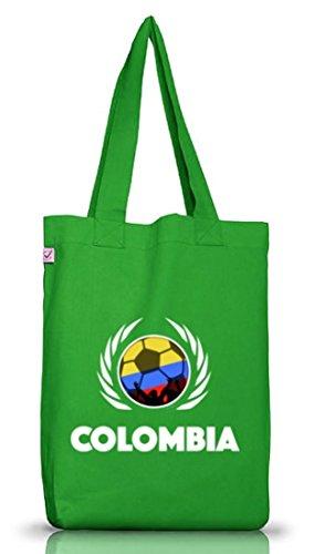 Colombia Fussball WM Fanfest Gruppen Jutebeutel Stoffbeutel Earth Positive Fußball Kolumbien Kelly Green