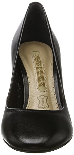 Buffalo Damen ZS 6553-16 Napa tope Pumps Schwarz (Black 01)