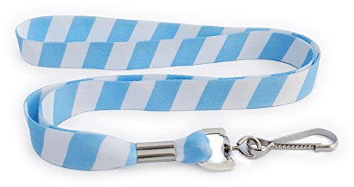Team Spirit - Ultra Weiche Hals Lanyard für ID Holder in Schule Farben Light Blue - White