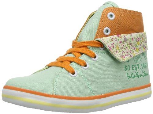 s.Oliver Casual 5-5-45213-22 Unisex-Kinder Sneaker Grün (Mint Comb 787 787)