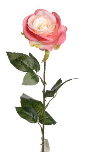 Artif-deco - Rose nina artificielle vieux rose h 70 cm tete superbe 9 cm 3 feuilles superbe - choisissez votre coloris: vieux rose