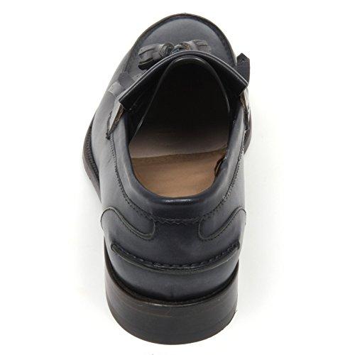 C7826 mocassino uomo CARACCIOLO 1971 RUST WASHED blu loafer shoe man Blu