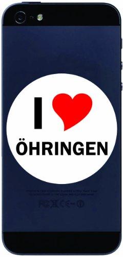I Love Aufkleber Decal Sticker Handy aufkleber Handyskin 7 cm mit Stadtname OEHRINGEN