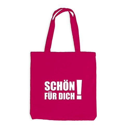 Jutebeutel - Schön für Dich - Fun Festival Sprüche Pink