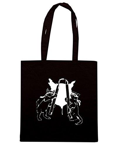 T-Shirtshock - Borsa Shopping FUN0259 11 02 2013 Nunchuck Kittehs T SHIRT det Nero
