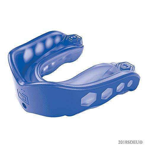 ShockDoctor Mundschutz Gel Max, blau(Blue),Erwachsene (Alter : 11+)