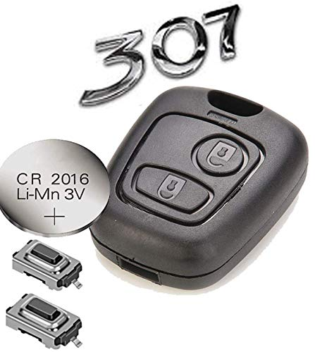 Kit de Réparation pour Peugeot 307 Citroen 2 Bouton Télécommande Clé Remise à Neuf