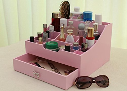 MSZLL Kosmetischen Abendkasse hölzerne Desktopgröße Haut Pflege Schublade aus Holz Lagerung Aufbewahrungsbox , 2