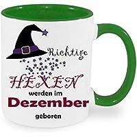 Kaffeebecher XL- Porzellan- Tasse Fliegende Hexen Rundum Kaffeepott