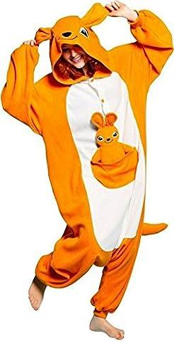 LATH.PIN Jumpsuit Tier Karton Fasching Halloween Kostüm Sleepsuit Cosplay Fleece-Overall Pyjama Schlafanzug Erwachsene Unisex Lounge Nachtwäsche S/M/L/XL (XL, (Pyjama Overall)