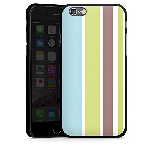 Apple iPhone 5s Housse Étui Protection Coque Bandes Pastel Années 90 CasDur noir