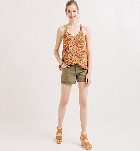 Promod Top à bretelles Femme Imprimé multicolore