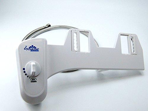 Bidet-Aufsatz Easy plus Dusch WC Bidet, Taharet, für Intimpflege mit Metallgeflecht Schlauch, Neues Modell nur bei uns, Qualität von Schataf