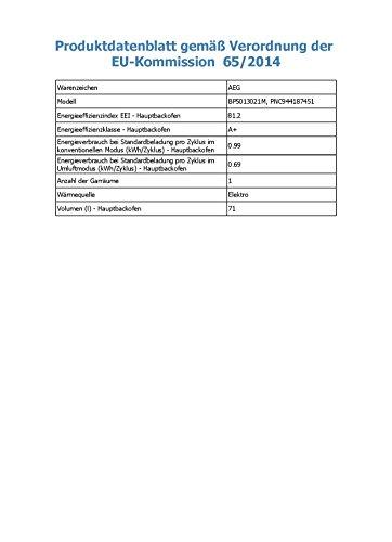 AEG BP5013021M Backofen Elektro / Pyroluxe Plus / Versenkknebel mit Edelstahlkappen / 71 L / edelstahl - 3