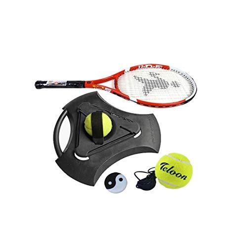 HUIJUNWENTI Tennistrainer, Tennistrainer-Basis, Anfänger-Tennis-Einzeltrainer mit Line-Rebound-Set Carbon Shot One, (Color : Black) -