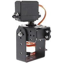 K-NVFA 2 Dof Pan Tilt + MG995 Joint Steering Gear para Brazo Robot / 26cc ~ 50cc Gasolina Helicóptero Ala fija KK-V- 236