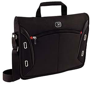 """Wenger 600665 DEVELOPER 15"""" MacBook Pro Messenger Bag with iPad Pocket (Black)"""