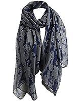 niceeshop(TM) Women Lady Fashion Voile Horse Print Soft Long Scarf Wrap Shawl