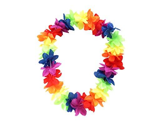 We Show Pride Regenbogen bunt Party Blumen Halskette Lei Garland
