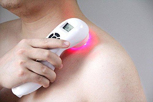 Kalt-laser-therapie (Hand Held Pain Relief Portable Laser Therapie Gerät - Low Intensity Akupunktur Schmerzlinderung für Schmerzen rheumatoider Arthritis, Sportverletzungen Verstauchung, wund Geschwür Akupunktur)