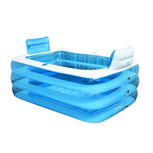 LybCvad Aufblasbare Badewanne PVC Erwachsene Kind Double Infant Thicken Große warme Folding Pool Haushalt dampfenden Sauna Badewanne Badeeimer (Upgrade) 1,5 Meter + Rückenlehne