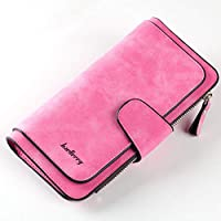 BlackEdragon Baellerry Women Long Wallet Credit Card Holder Large Capacity Leather Purse Multi-function Matte Business Bag N2349