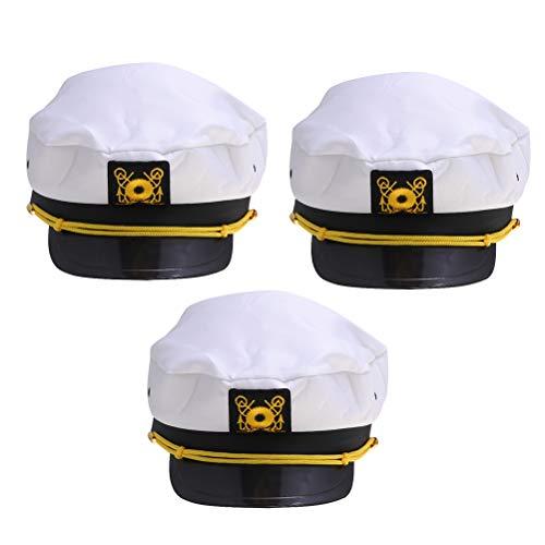 Männlich Kostüm Sailor - Toyvian Navy Sailor Cap Captain hat für männlich-weibliche Uniformen