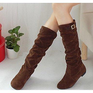 Wuyulunbi@ Scarpe Donna Inverno Moda Comfort Stivali Stivali Ginocchio Stivali Alti Per Casual Marrone Scuro Giallo Nero US8 / EU39 / UK6 / CN39