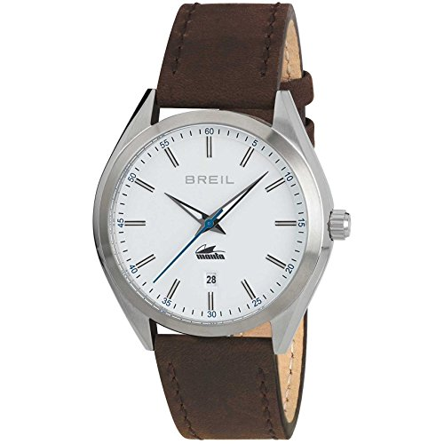 Breil orologio analogico quarzo uomo con cinturino in pelle tw1612